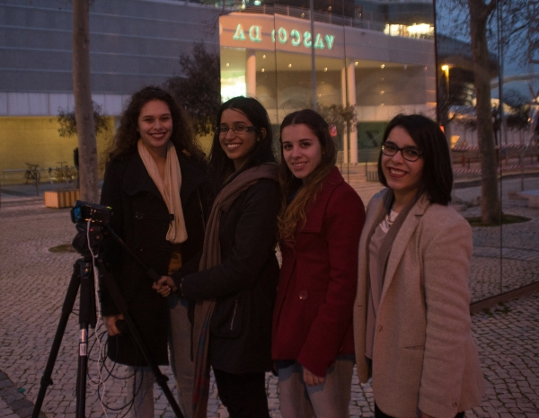 I met these media students on a stroll along the front and helped them with their project!